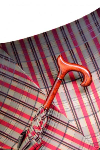 GASTROCK Derby-Stützschirm mit Holzstock GLENCHECK COGNAC