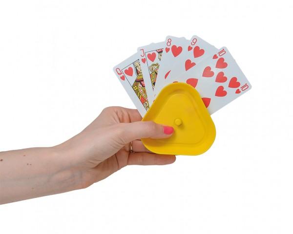 Spielkartenhalter, bunt, 4er Pack