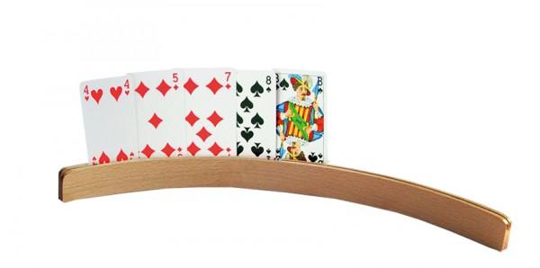 "Spielkartenhalter ""HOLZ"", gebogen"