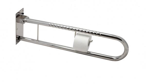 Sicherheits- Stützklappgriff mit Toilettenpapierhalter 85 cm