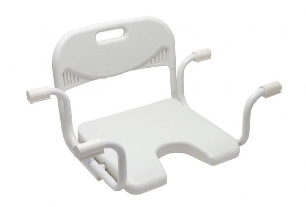 Badewannensitz mit Hygieneausschnitt & Rückenlehne
