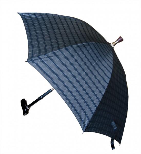 Gehstock mit Schirm