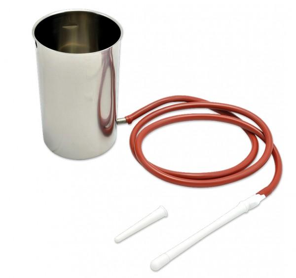 "Irrigator-Set ""EDELSTAHL"", 1 Liter"