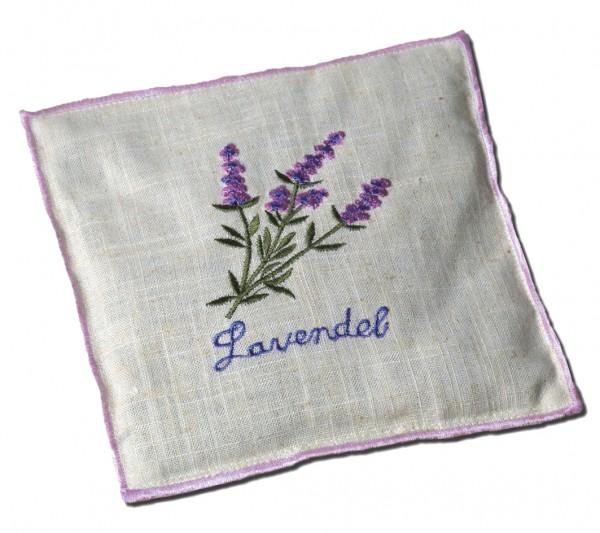 Duftkissen mit Lavendelfüllung, bestickt