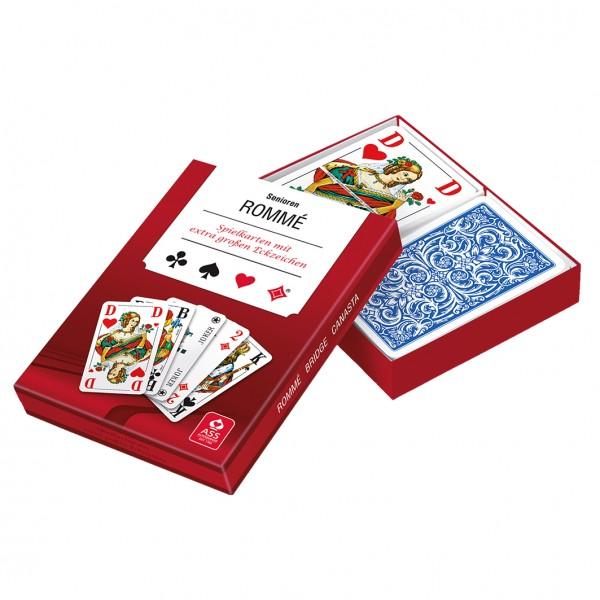 """Spielkarten """"ROMMÉ"""", extra große Zeichen"""