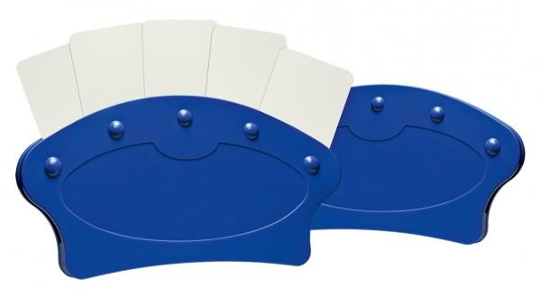 Spielkartenhalter, blau, 2er Pack