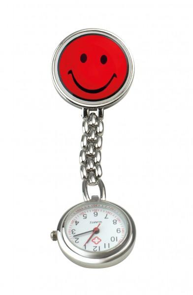 """Schwestern-Uhr """"SMILEY"""" mit Clip"""